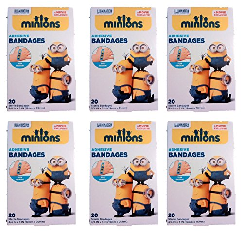 Despicable Me Minions Bandages, 3/4