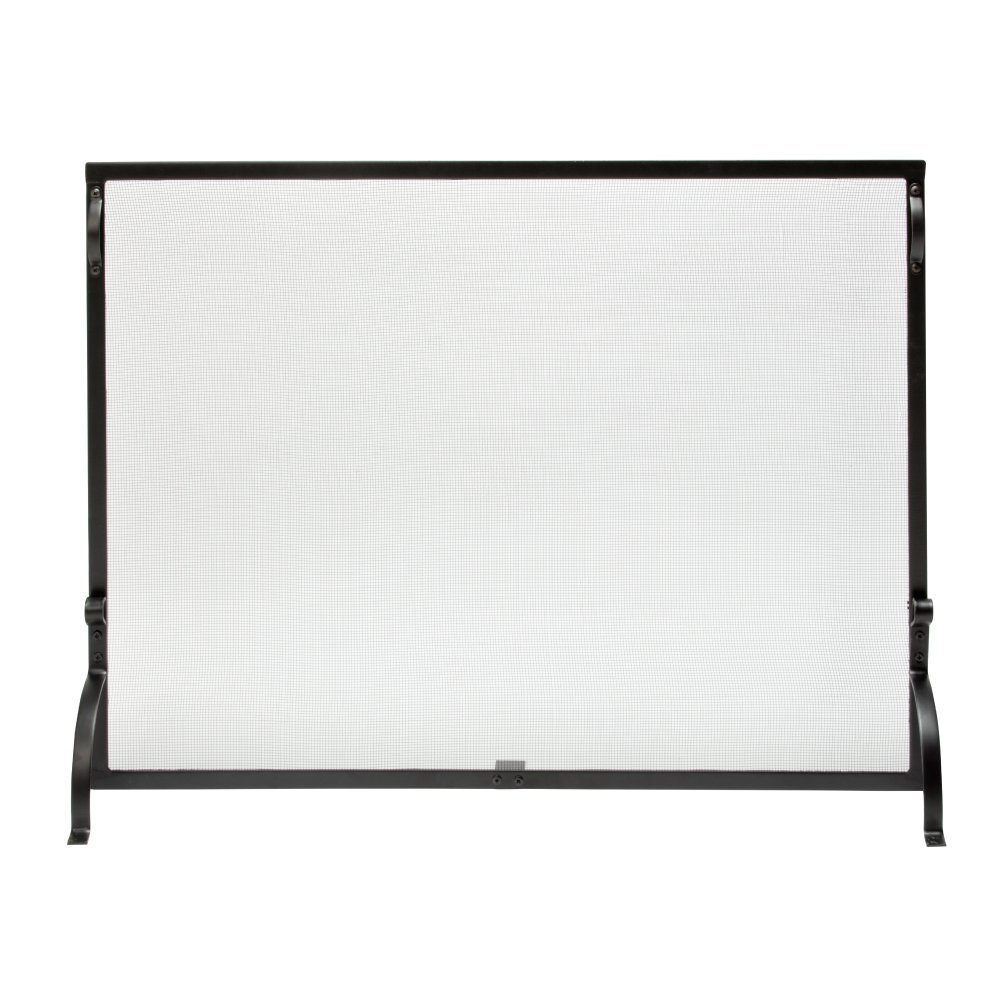 Pleasing Uniflame S 1075 1 Panel Wrought Iron Spark Guard Fireplace Screen Download Free Architecture Designs Photstoregrimeyleaguecom