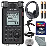 Tascam DR-100mkIII Linear PCM Recorder with XPIX Table Tripod + Headphones + Cables + Fibertique Cloth and More