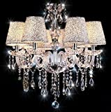 Chandelier,TOPMAX 6 Light Crystal Ceiling Lamp