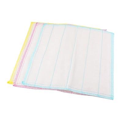 Imprimir rayas textura trapo de limpieza de toallas 3 PC Tres Colores