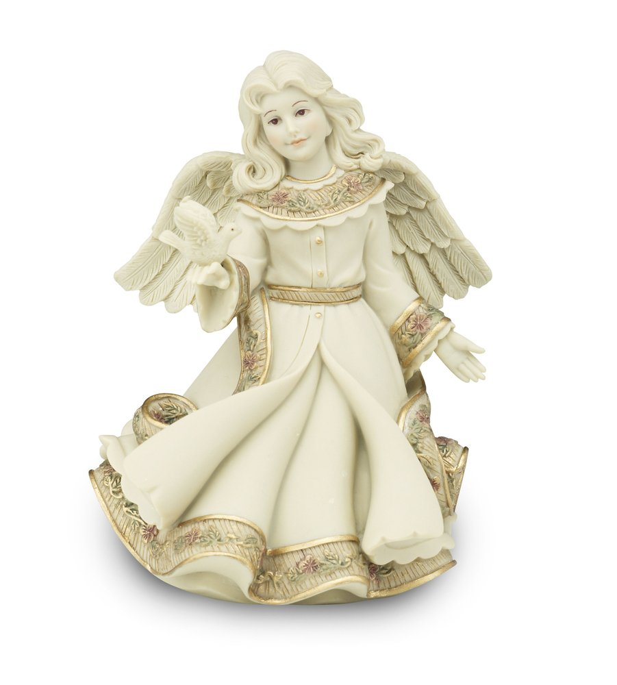 Pavilion Gift Company Sarah's Angels Tapestry Series Angel Holding Dove Figurine, 6-Inch