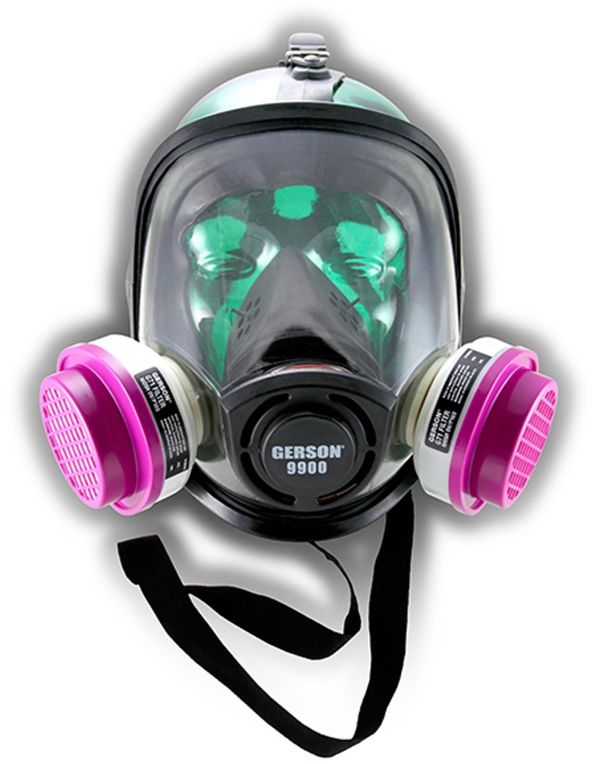 Gerson 9900 Complete ''Full Face Respirator'' with Multi-Gas Filters
