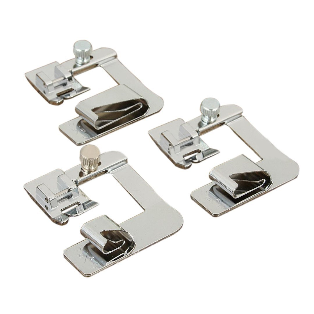 3 pcs Domestic Sewing Machine Presser Foot 1/2
