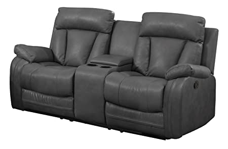 NHI Express Benjamin Motion Loveseat Consoler 1 Pack , Gray