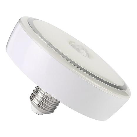 NONMON Bombillas LED Sensor Movimiento E27 12W Luz Inteligente Infrarrojo Detección, Lámparas para Escaleras Casa