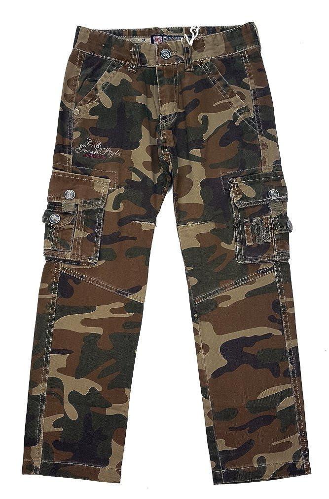 JIENIS-Denim Jungen Army Tarnhose Camouflage, J872 Gr. 122/128 J872.8