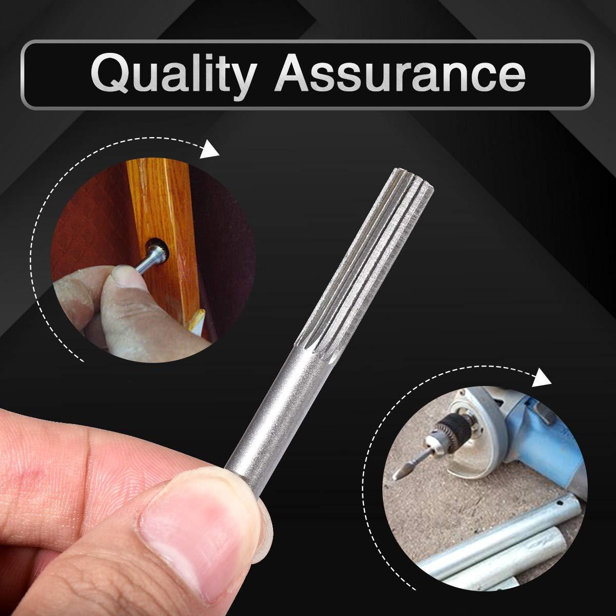 Cilindro de carburo de tungsteno di/ámetro de corte de 12,7 mm para herramienta rotativa fresa rotativa de lima redonda KATUR broca de molienda de grabado de v/ástago redondo de 6 mm