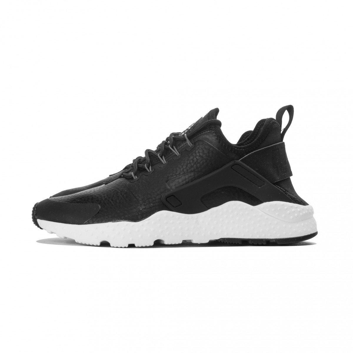 more photos 3ab10 3aec9 Galleon - Nike AIR HUARACHE RUN ULTRA PRM Womens Running-shoes  859511-400 12 - Black   Dark Grey   White