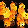 10 Bombillas Extra Grandes LED de Calabaza – Accesorio para Halloween – Guirnalda Decorativa para Fiesta de Disfraces – Adorno de Ambiente – La Tira de Iluminación de Calabazas más Grande en Amazon!