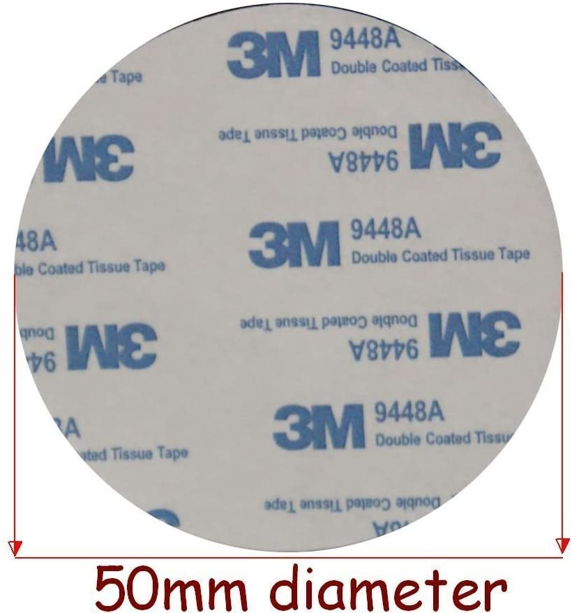 NOIR ET BLANC 3M Mousse EVA Bande 50mm Diamètre x 2mm D'epaisseur Double Face
