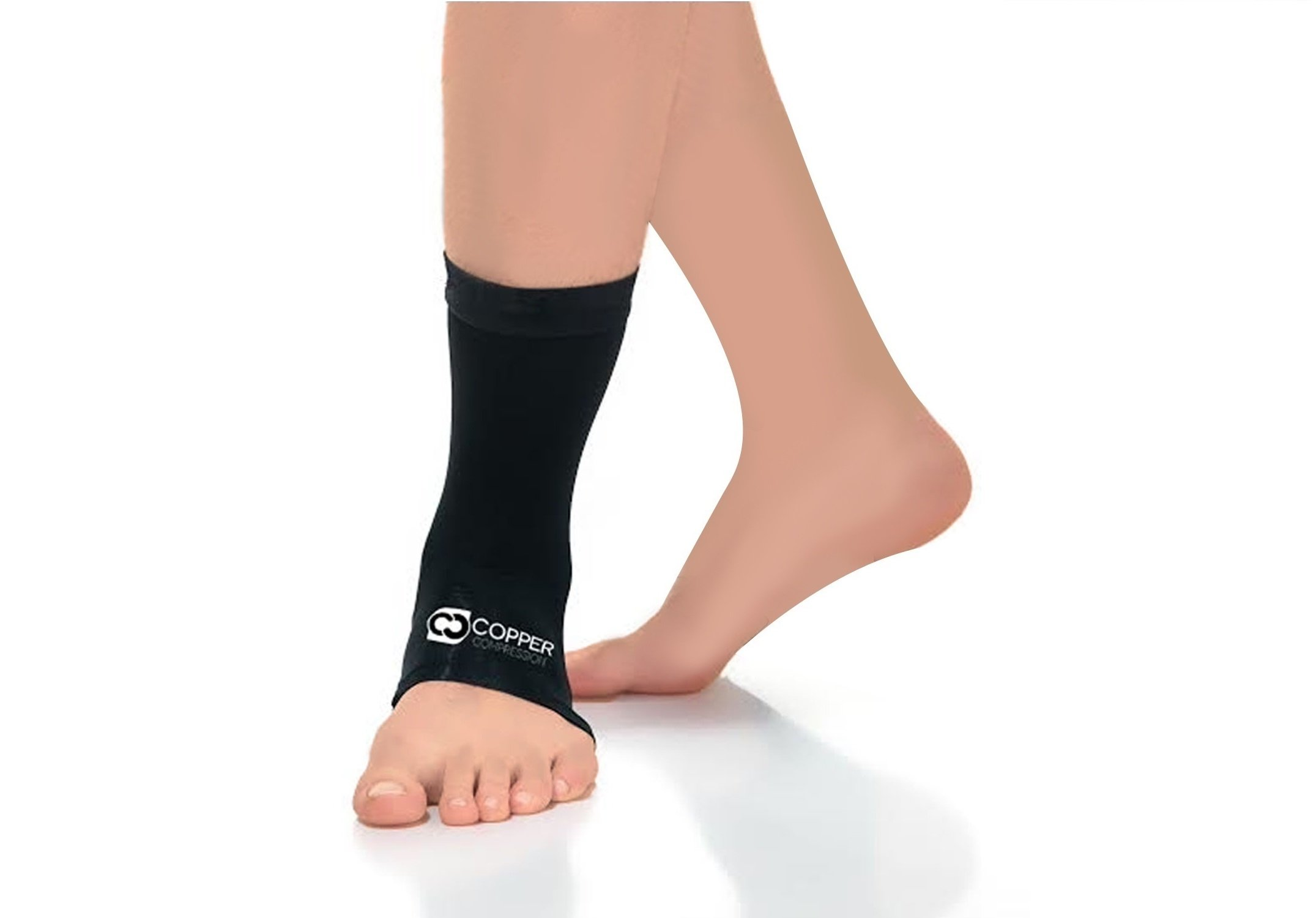 Copper Compression Recovery Ankle Sleeve - GUARANTEED Highest Copper Content #1 Infused Fit Ankle Brace/Wrap/Sock/Stabilizer For Men And Women. Wear To Support Stiff And Sore Muscles And Joints