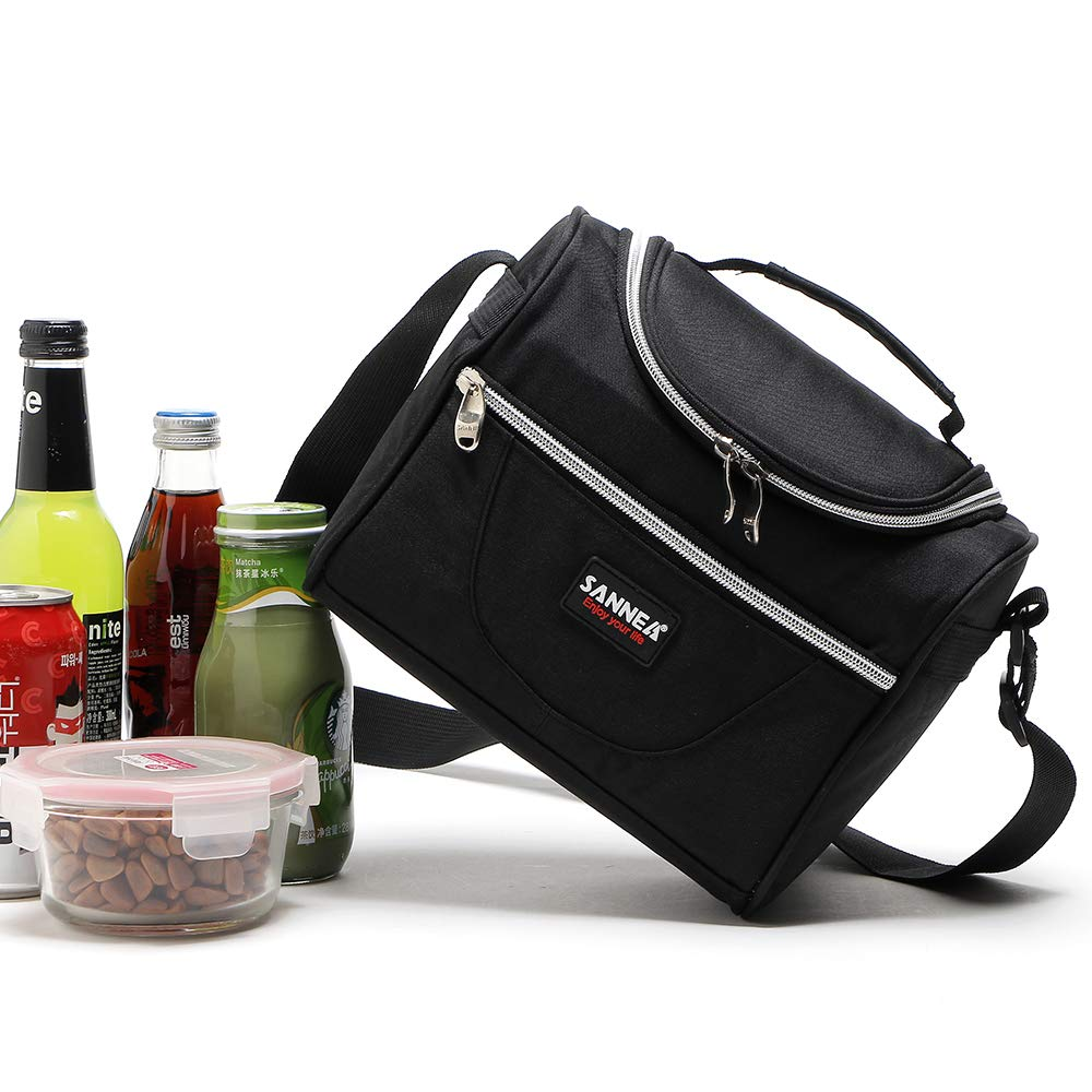 SANNE Insulated Lunch Bag Lunch Box Tote Bag Lunch Container with Shoulder Strap for Women and Men