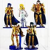 LOT de 5 figurines Les Chevaliers du Zodiaque Shiryu Shun Hyoga Jabu