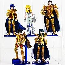 5pcs/lot 14cm Anime Saint Seiya Figure Toy Gold Saint Myth Cloth Shaka Saga Kanon Death Mask Signs of The Zodiac Model Doll