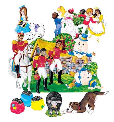 Nursery Rhymes 4 Felt Figures for Flannel Board Stories Precut