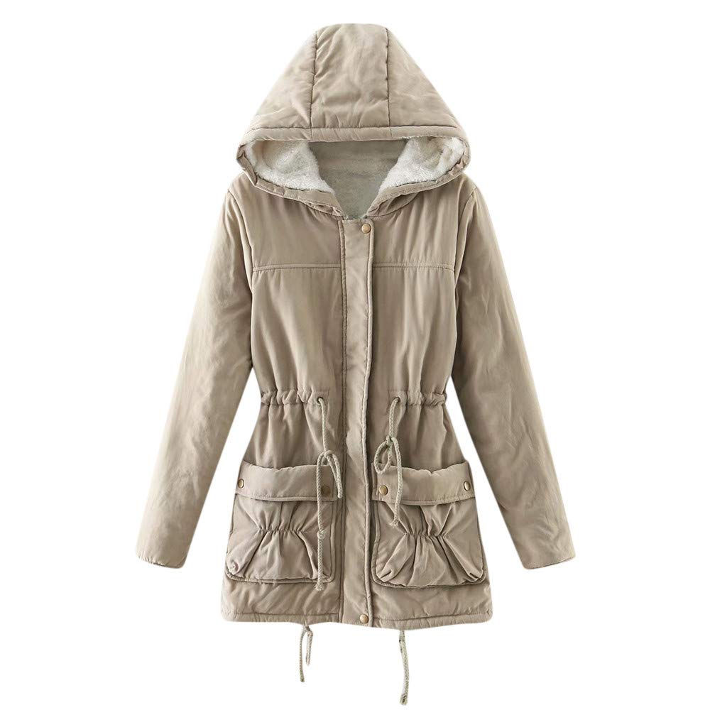 MODOQO Women's Oversize Hoodies Parka Coat Jacket Winter Warm Outwear Overcoat MODOQO-Womens Autumn winter coat-1018