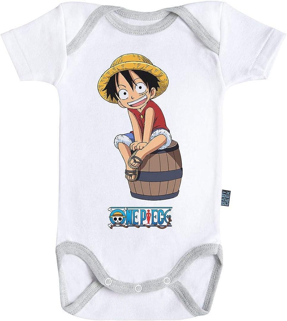 Baby Geek Luffy One Piece - Body de manga corta para bebé con licencia oficial blanco 12-18 Meses: Amazon.es: Ropa y accesorios