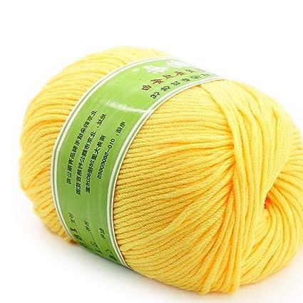 Amazon com: Cotton Ribbon Yarn - Fashion Worsted Super Soft