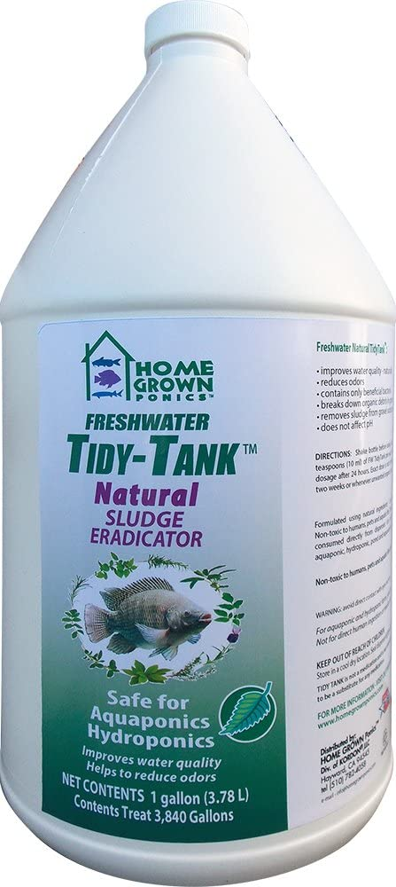 HOME GROWN PONICS # 96043 Tidy Tank Natural Sludge Eradicator, 1-Gallon ONLY