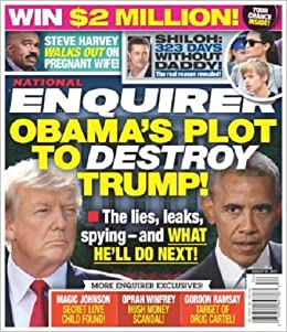 Image result for national enquirer obama plot to destroy trump