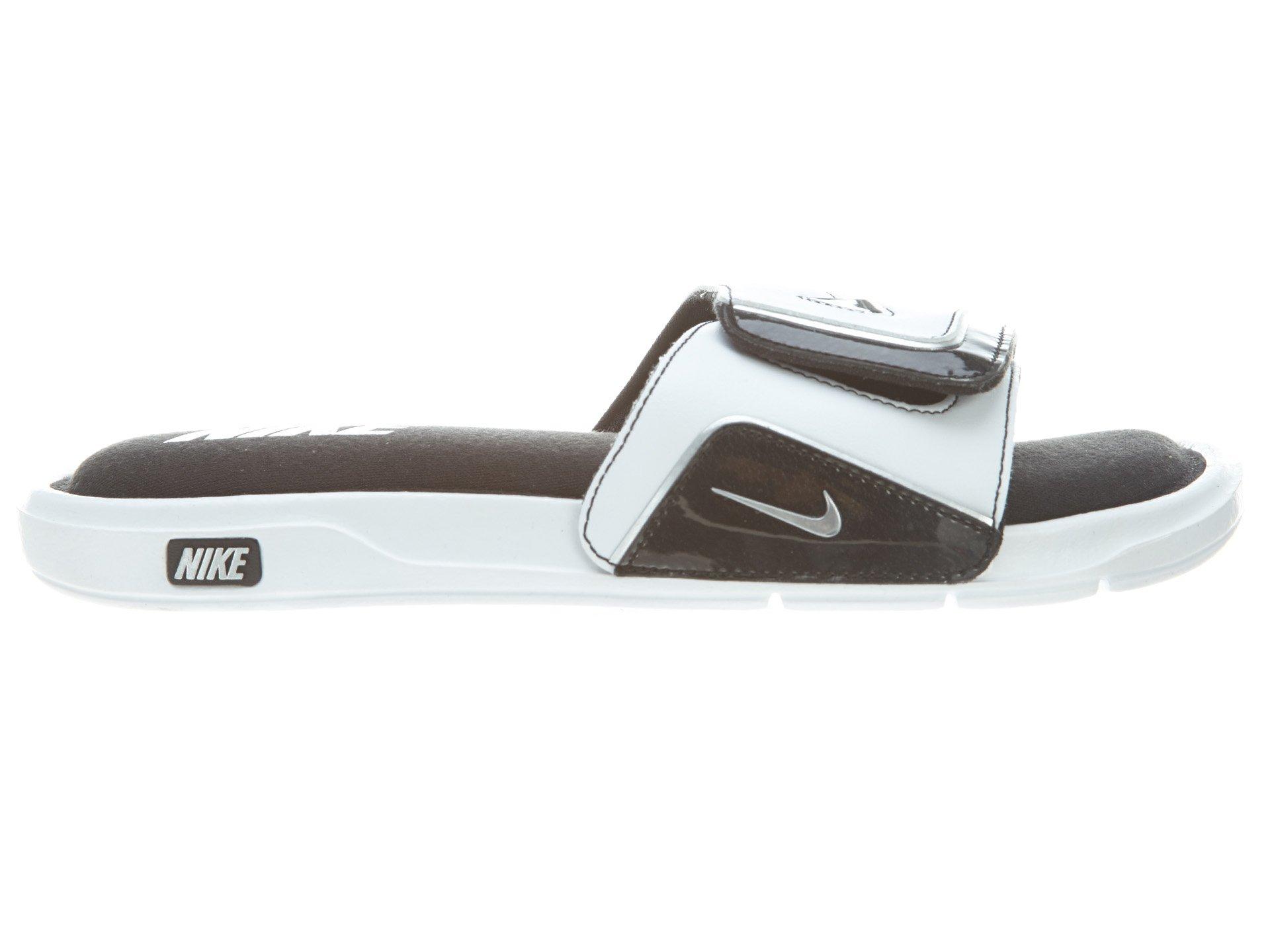 9933351107b Galleon - Nike New Men s Comfort Slide 2 Sandals White Black 10