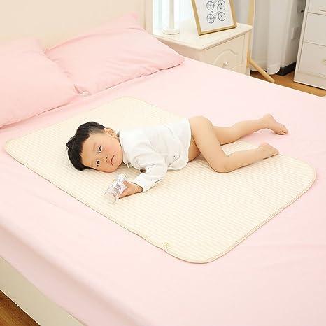 Multicolor a rayas de algodón orgánico de color impermeable con cambiador para bebés cambio de sabanas orina del cojín de cama para recién nacido: Amazon.es: Bebé