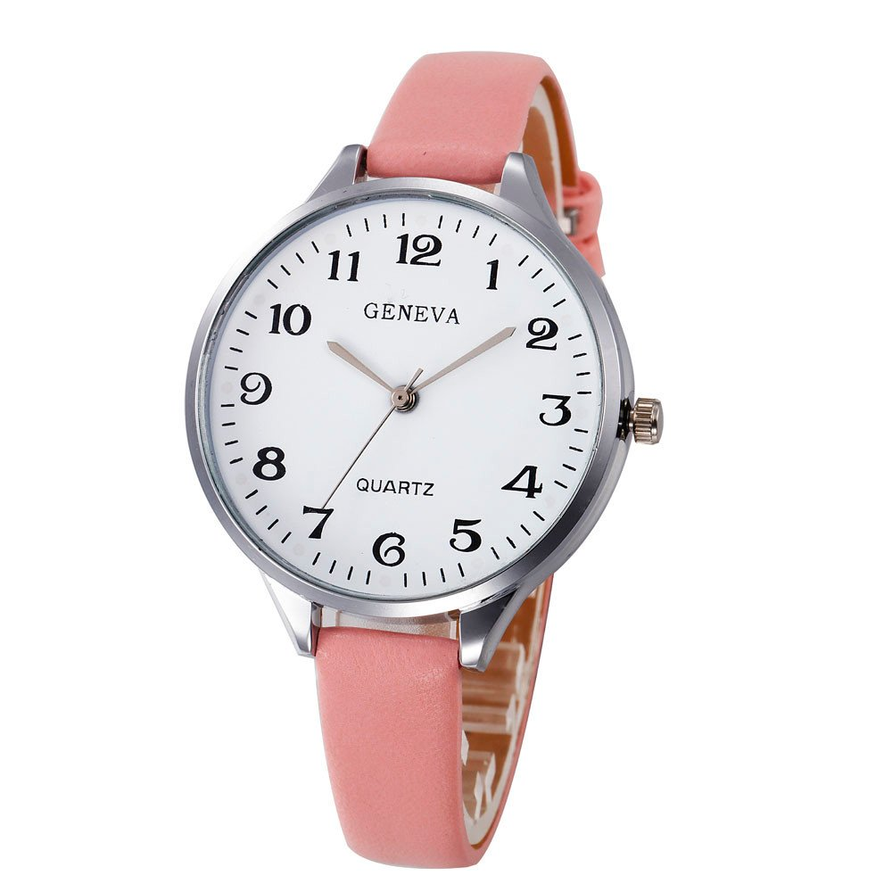 Zaidern Womens Leather Watches Unique Analog Quartz Fashion Clearance Lady Watches Female Watches on Sale Casual Wrist Watches for Women Round Dial Case Comfortable Solid PU Leather Watch