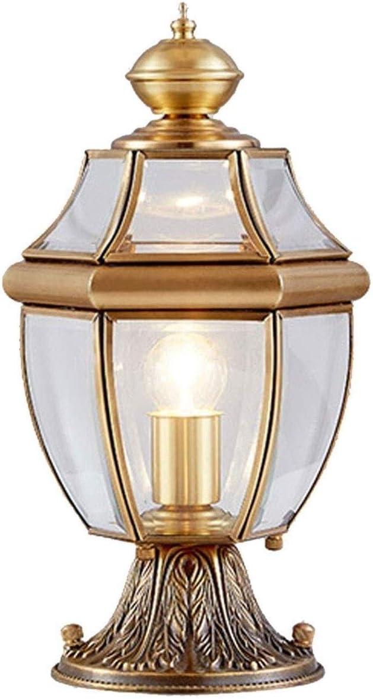ZAQXSW-zd 全銅のヘッドライトの壁の壁ライト屋外のテラスのドアランプの別荘は防水家のドアのポストランプを導きました