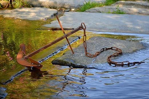 SOMIER (Deko ancla oxidado metal oxidado Figura decorativa Mar Estanque Estanque Decorar Jardín, Terraza Deko Decorativa