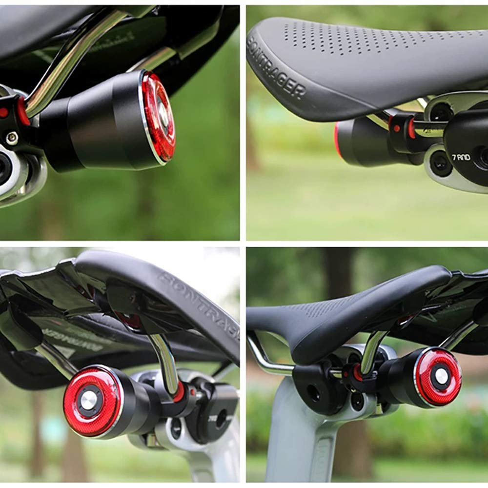USB Rechargeable Ultra Bright Brake Sensing Bicycle Rear Lights-Light Sense Flashlight Red Back Led Accessories for Road Bikes Easy Mount for Cycling Safety Taillight In /& Out Smart Bike Tail Light