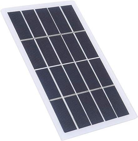 Panel Solar, Portátil al Aire Libre 2W 5V Polycrystal Panel ...