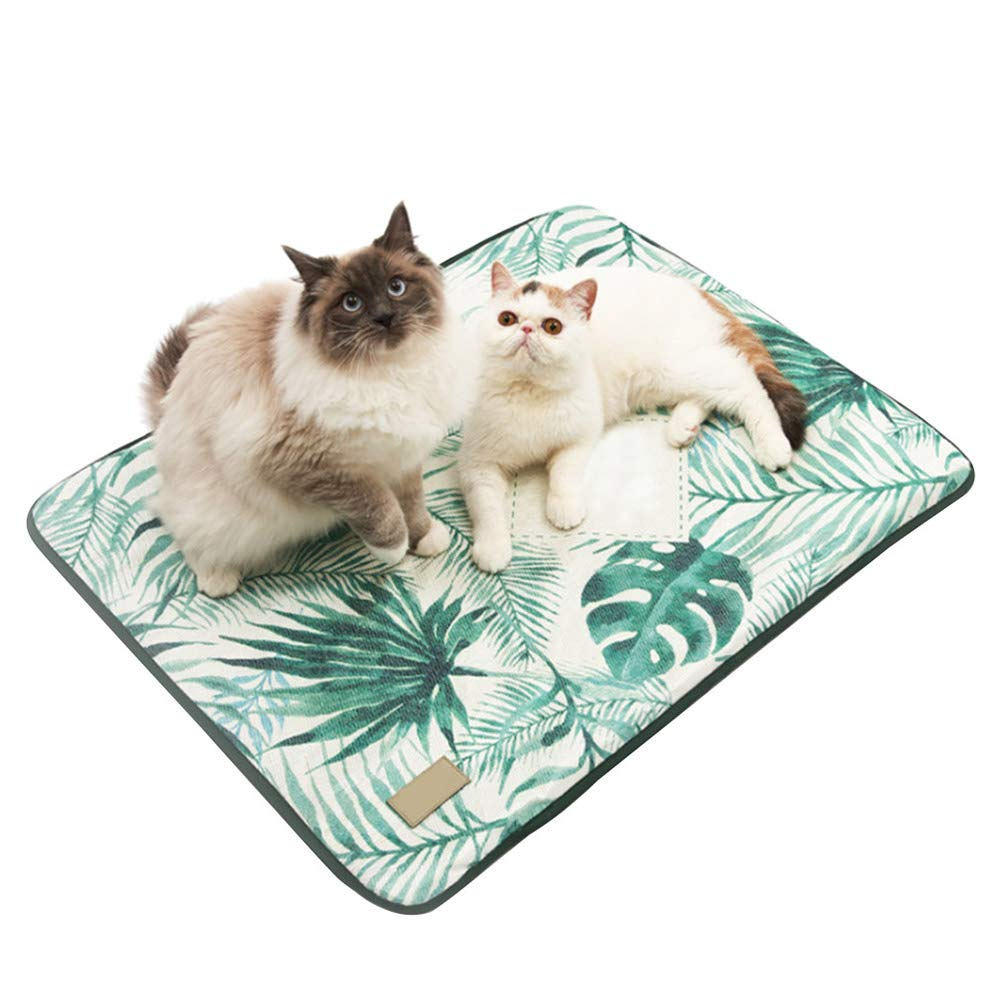 Medium 3D Print Summer Ice Silk Pet Dog Cooling Mat, for Cat Dogs Floor Mats Blanket Sleeping Bed Cushion Cold Pad, Zipper Design, Removable and Washable,M