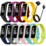 Bands Compatible with Samsung Galaxy Fit 2, Sport Band Replacement Straps for Women Men Wristbands Accessories for Galaxy Fit