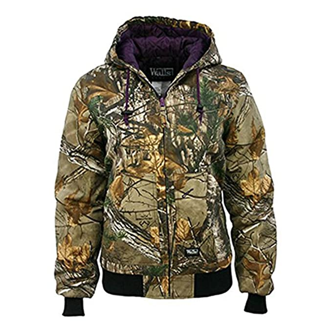 22372100fc73 Amazon.com  Walls Women s Ladies Insulated Hooded Jacket  Sports ...