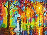 Rainy Wedding is a Limited Edition, Gallery Proof (GP) from the Edition of 250. This is the first time this amazing print has been offered as a limited edition print. Remember your wedding day for the rest of your life with this amazing Afremov scene...