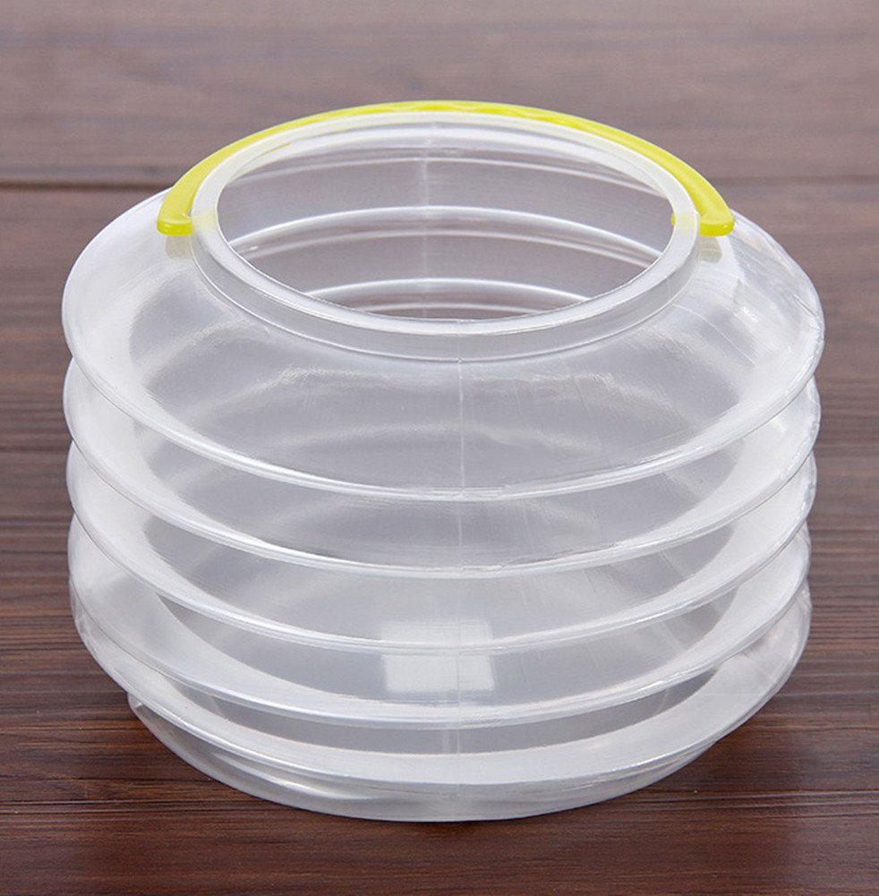 Skyseen 2PCS Collapsible Art Transparent Plastic Drawing Wash Brush Water Barrel Telescopic Watercolor Painting Bucket