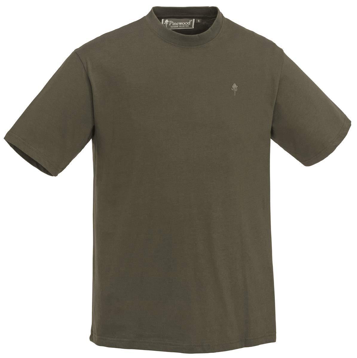 Pinewood T-Shirt 3-Pack Angeln//Jagd//Outdoor Shirt Gr/ün//J.Braun//Khaki 3 St/ück