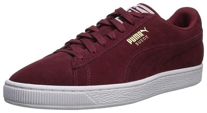 Puma Suede Schuhe Erwachsene Damen Herren rot (Cabernet) m rotem Streifen