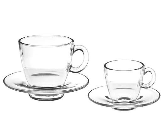 40 opinioni per Pasabahce Aqua Servizio Tazze Caffè con Piatto, Vetro, Trasparente, 6 Pezzi