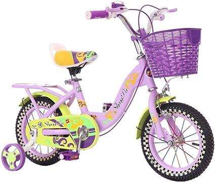 Bicicleta de equilibrio para niños, Bicicleta para niños Bicicleta para niña con ruedas de entrenamiento Con canasta para bicicleta de 12