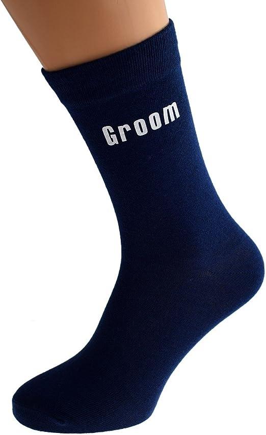 Modern Groom Wedding Socks in Black or Navy