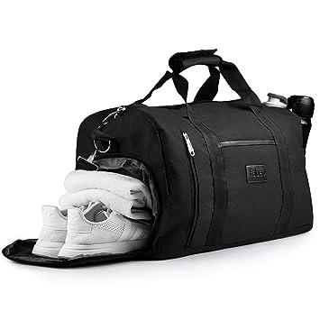 Weiao Bolsa Deporte con Compartimento de Zapatos Bolsas de Gimnasio Impermeable Bolsa de Deporte Bolsa Equipaje Viaje Bolsa para