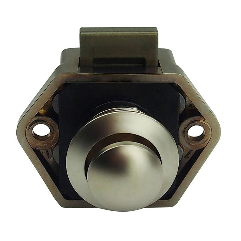 KEYLESS Push Button Lock Catch per armadi, RV cassetti nave, scrivanie, porte vanpower