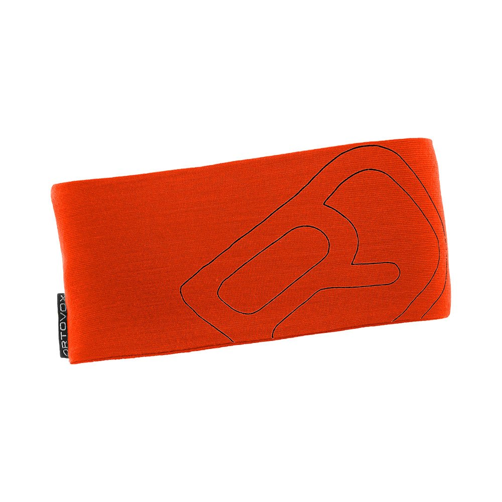 Ortovox Merino Cool Logo Headband - crazy orange
