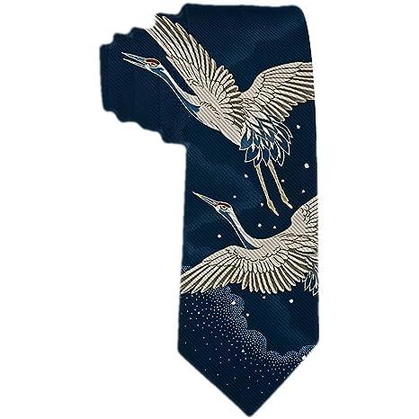 Corbata de seda de poliéster con vuelo de la grúa de la coroNA ...