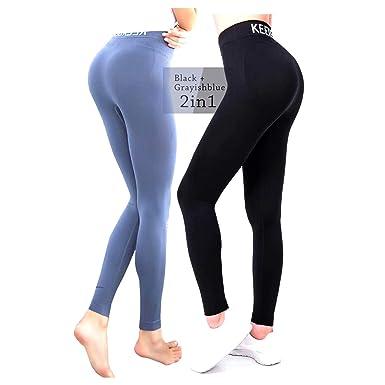 f346bed8c1d5 KEEXUENNL Slimming Leggings for Women High Waist Compression Comfort  Elastic Yoga Pants Tummy-Control Skinny