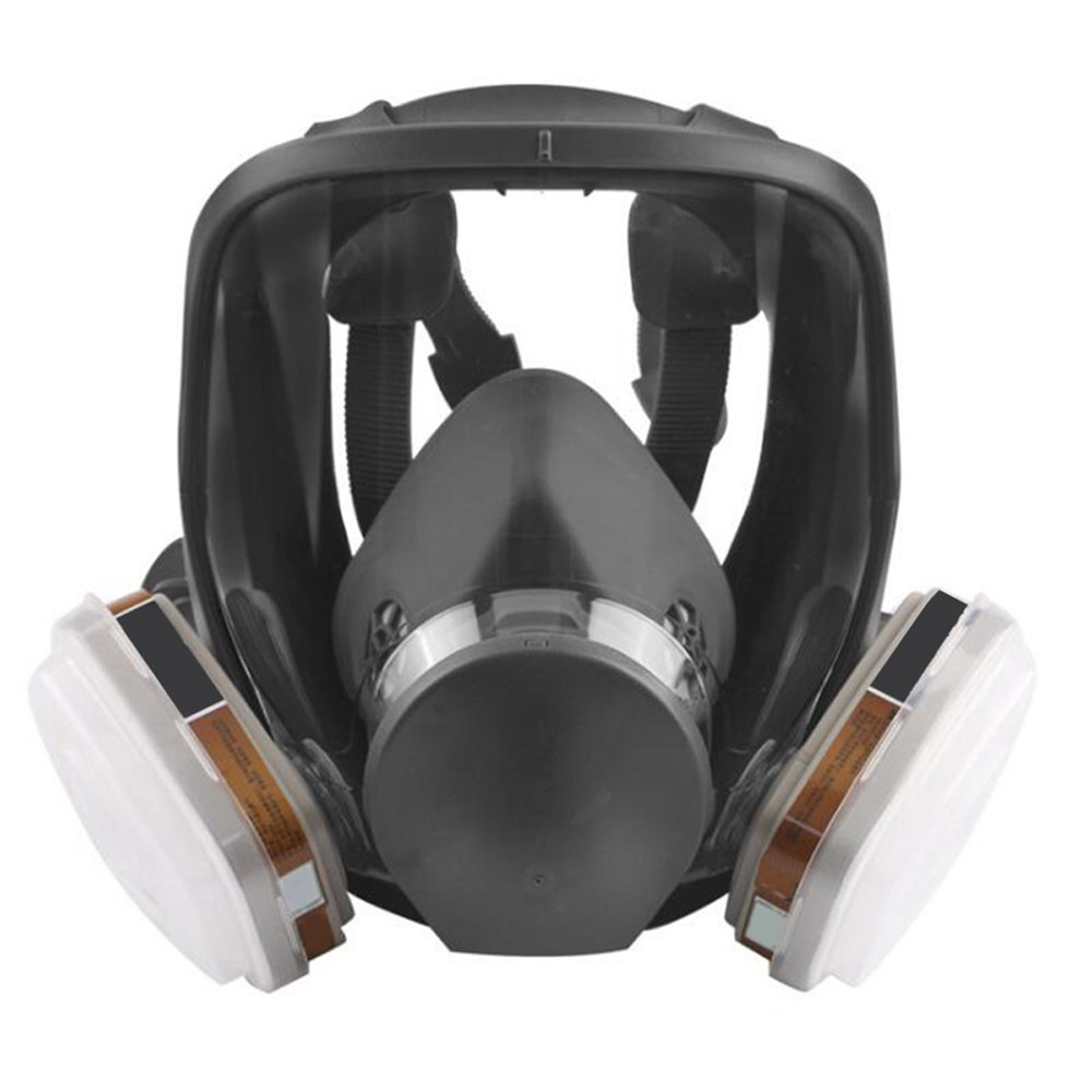 Zinnor Full Face Gas Mask Organic Vapor Respirator w/Activated Carbon Respirator, Anti-formaldehyde/Spray Paint/Chemical / Pesticide/Fire / Fog/Antivirus