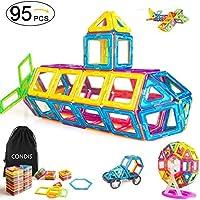 Condis Magnetische Bausteine 95 Teile, Magnetspielzeug Magnete Kinder Magnetbausteine Magnet Spielzeug Magnetspiele...