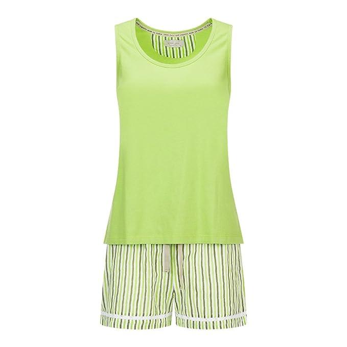 Veraluna Conjunto de Pijama para Mujer, Verde (Hierba), Medium (Tamaño del